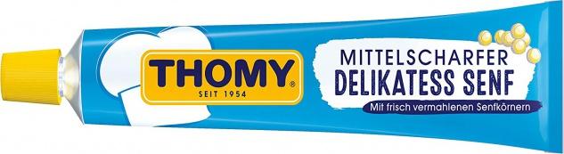 Thomy Delikatess Senf mittelscharf der Klassiker 100ml 20er Pack