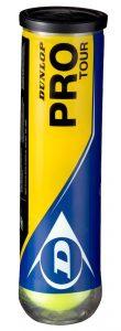 Dunlop Tennisbälle Pro Tour Einheitsgröße 4 Bälle Farbe Gelb