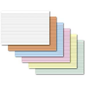 Karteikarten A6 weiß liniert