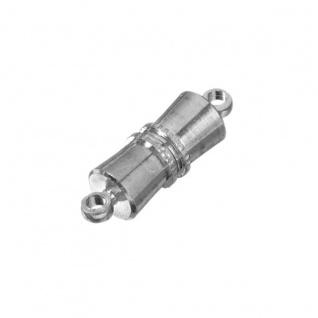 Knorr Prandell Magnetverschluss rund mit Riffel in silber 16mm 2 Stück