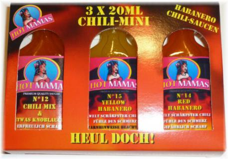 HotMamas Chili Mini 3er Geschenkebox 3x 20ml