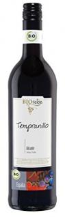 BIOrebe Tempranillo Rotwein mit fruchtigem Bouquet Spanien 750ml