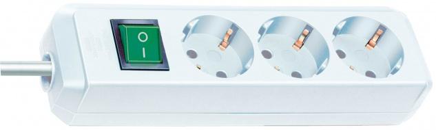 Steckdosenleiste Eco-Line 3-fach mit Schalter weiß 1, 5m