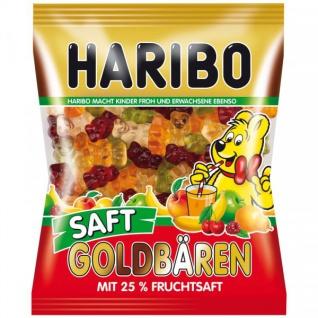Haribo Fruchtgummi Saft Goldbären 25% Fruchtsaft 450g, 12er Pack