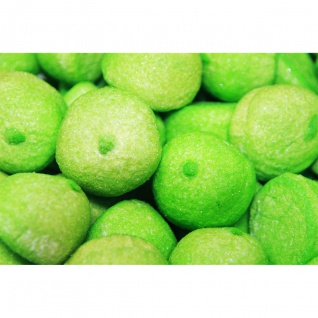 Mellow Speckbälle grün große gezuckerte Schaumzuckerbälle 1000g