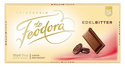 Feodora Tradition Edel-Bitter 60% 100g Schokoladen Tafel mit edlem Aroma