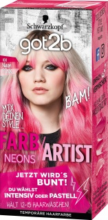 SCHWARZKOPF GOT2B Farb/Artist Neon Pink 100 Stufe 1 80ml