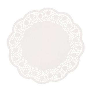 Papstar Einweg Tortenspitzen Papier rund 30 cm weiß 250 Stück