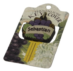 Schlüsselkappe Schlüsselköpfe in Form einer Traube Name Sebastian