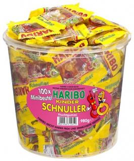 Haribo Fruchtgummi Kinder Schnuller 100 Minibeutel Dose 980g
