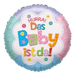 Karaloon Ballon Hurra Das Baby ist da in wunderschönen Pastellfarben