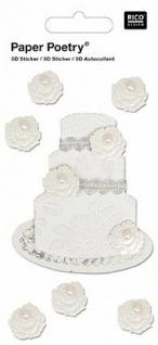 3D-Sticker Hochzeitstorte