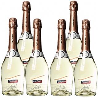CinZano Asti fruchtig frischer Schaumwein aus Italien 750ml 6er Pack
