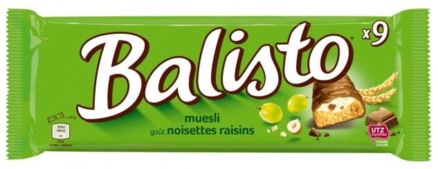 Balisto Müsli Mix Vollkornkeks Riegel Überzug aus Milchschokolade