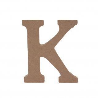 Bastelbuchstabe K Holzbuchstabe zum basteln Buchstabe aus Holz