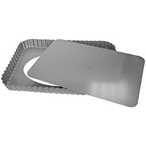 Patisse 3568 Quicheform mit Hebeboden Silver Top 35 x 22 x 2, 8 cm