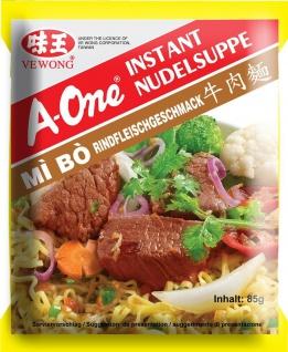 A One Instant Nudelnsuppe mit Rindfleischgeschmack kräftig 85g