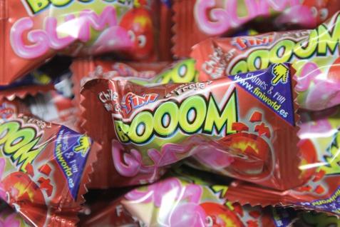 Bubble Gum Boom Liquid Chicle Hartkaramelle Bonbons mit Kaugummi 5g