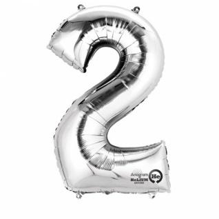 2 silber Folienballon