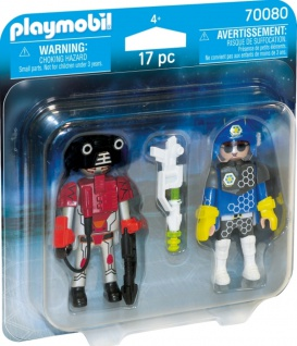 Playmobil Duo Pack Spacepolizist und Ganove Spielfigurenset 70080