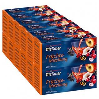 Meßmer Früchte Mischung herzhaft fruchtig 25 Teebeutel 75g 12er Pack