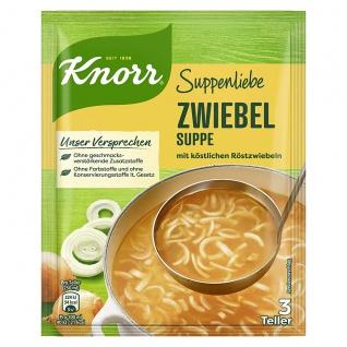 Knorr Zwiebelsuppe mit köstlichen Röstzwiebeln für 3 Teller 46g