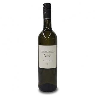 Heinrich Vollmer Riesling QbA trocken Weißwein aus der Pfalz 750nl