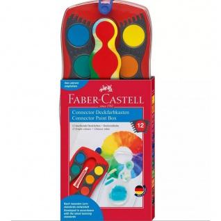 Faber Castell Deckfarbkasten Connector mit 12 leuchtenden Farben