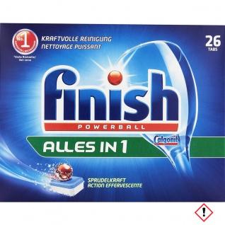 Finish Calgonit Alles in 1 Powerball Spülmaschinentabs 25 Stück