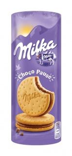 Milka Choco Pause Schokokekse Doppelkeks mit Füllung 260g 9er Pack