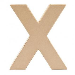 """Pappmache Buchstabe """" X"""" stehend zum basteln kreativ Rico Design Idee"""