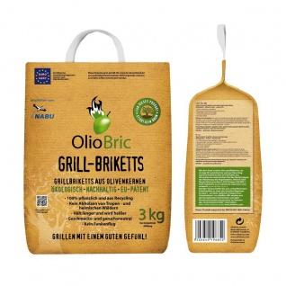 OlioBric Gourmet Grill Briketts Oliventrester Grillkohle 3000g