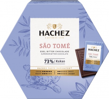 Hachez Ursprungstäfelchen Sao Tomé Edel Bitter Schokolade 165g