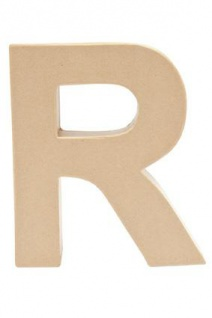 """Pappmache Buchstabe """" R"""" stehend zum basteln kreativ Rico Design Idee"""