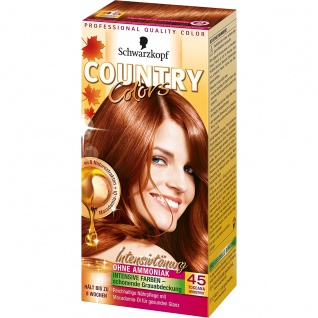 COUNTRY COLORS Intensiv-Tönung 45 Toscana Herbstrot Stufe 2 123ml