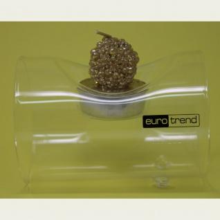 Teelichthalter Teelichtglasröhre für ein Teelicht Länge 10cm