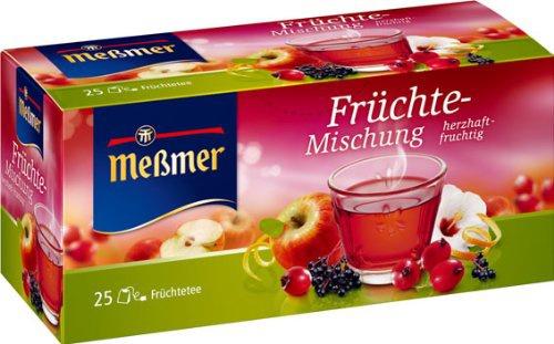 Meßmer Früchte Mischung herzhaft fruchtig 25 Teebeutel 6er Pack
