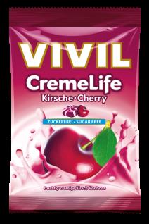 Vivil Creme life Classic Kirsch Geschmack zuckerfrei 110g 5er Pack