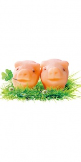 Niederegger saftige Marzipan Glücksschweine 2 Marzipan Figuren 48g