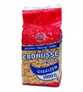 XOX Erdnüsse gesalzen schonend geröstet knackig lecker 1000g 2er Pack