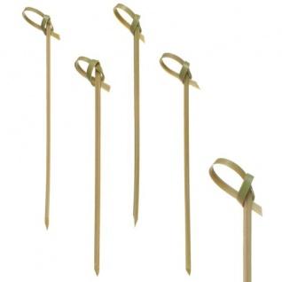 Papstar Fingerfood-Spieße mit Knoten aus Bambus biologisch abbaubar 10cm - Vorschau