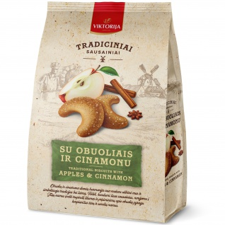 UAB Viktorija - die Konditoreifabrik - Kekse mit Apfel und Zimt 250g