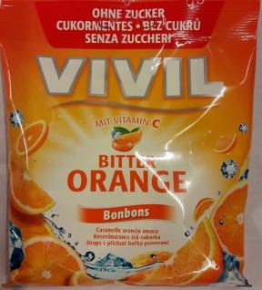 Vivil Bonbons fruchtig Wild Orange Geschmack ohne Zucker 80g 2er Pack