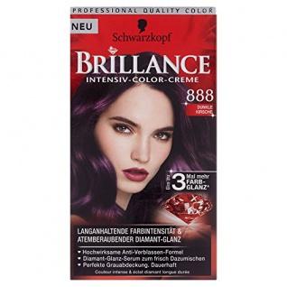 Brillance Intensiv-Color-Creme, 888 Dunkle Kirsche, 1er Pack (1 x 1 Stück)