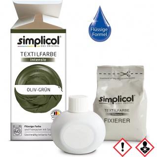 Simplicol Textilfarbe intensiv all in 1 Flüssig in Olive Grün