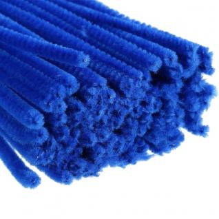 Meyco Chenilledraht Biegeplüsch Pfeiffenputzer blau 50cm 10 Stück