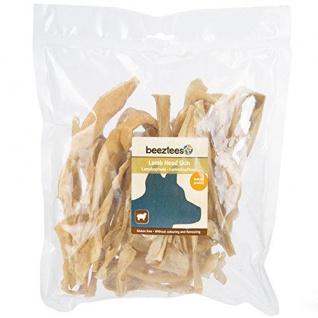 Tiernahrung Beeztees Lammkopfhaut Leckerer Snack für den Hund 200g