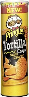 Pringles Tortilla Nacho Cheese Stapelchips Käsegeschmack 180g 6er Pack