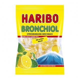Haribo Bronchiol Zitronenmelisse Bonbons mit echtem Minzöl 100g