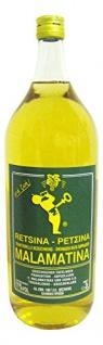 Retsina Malamatina Weißwein Trocken, leicht harzig aus Griechenland 2000ml
